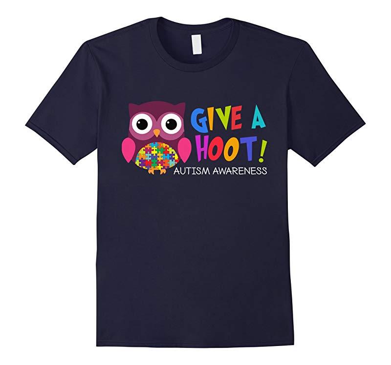 Autism Owl Autism Awareness Shirt Give a hoot-RT
