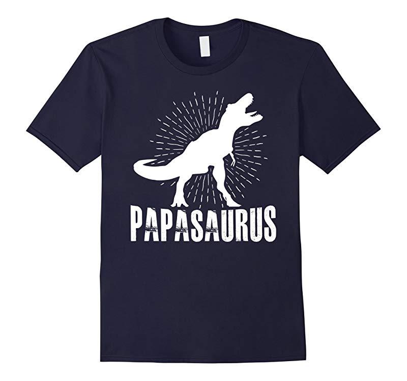Mens Papasaurus Rex T-shirt-RT