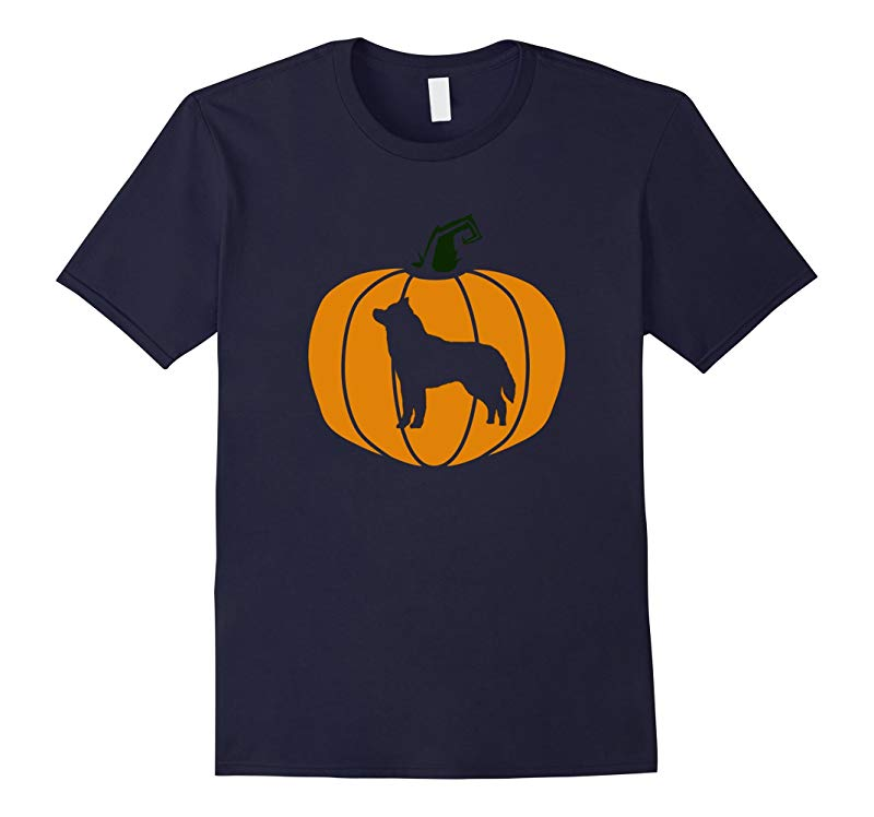 Happy Halloween Husky Pumpkin Dog Lover T-Shirt-RT