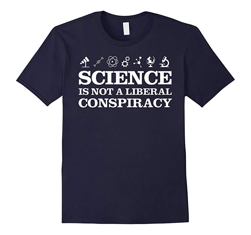 Mens Science Is Not A Liberal Conspiracy T-Shirt-RT