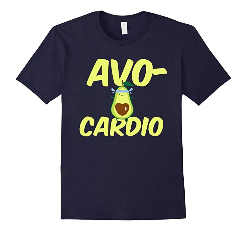 Avocardio Avocado Cardio Exercise Running Fitness T-Shirt-RT