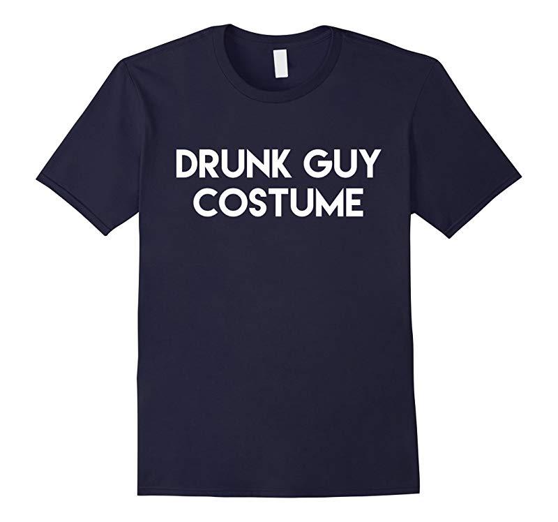 Drunk Guy Costume T-Shirt Funny Halloween Adult Tee-RT