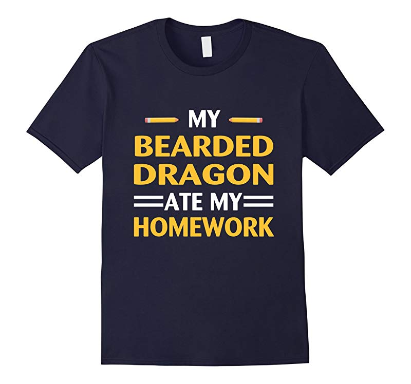 My Bearded Dragon Ate My Homework Funny School T-Shirt-RT