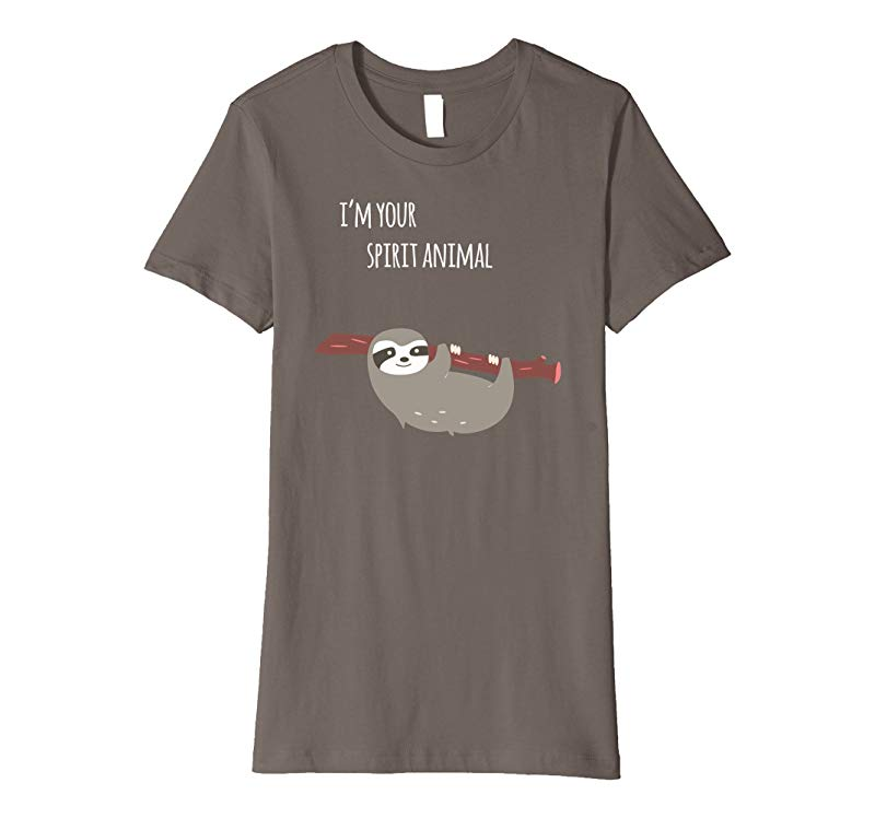Womens Lazy Sloth Spirit Animal Long Dorm Nightshirt Sleep T Shirt-4LVS
