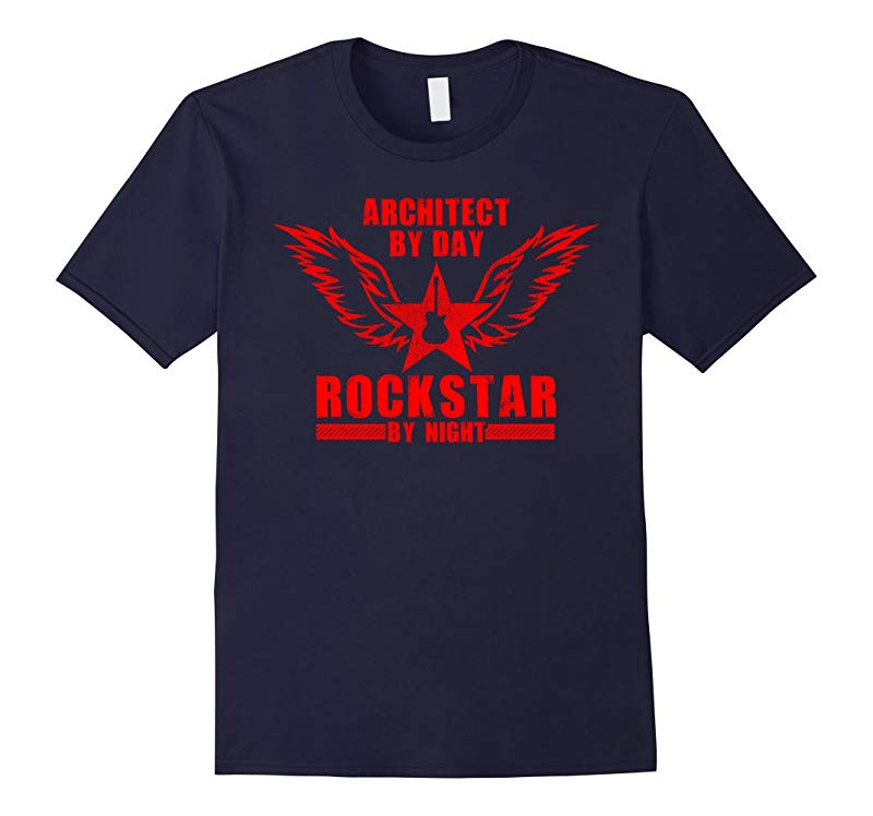 Architect by Day  Rockstar by Night T-Shirt Red-TD