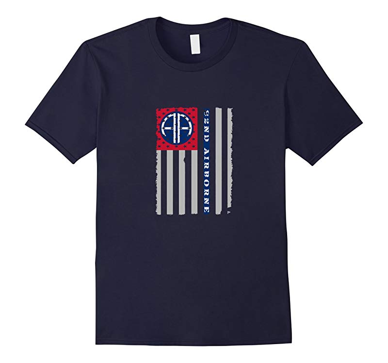 82nd Airborne Division Veteran American Flag T-shirt-RT