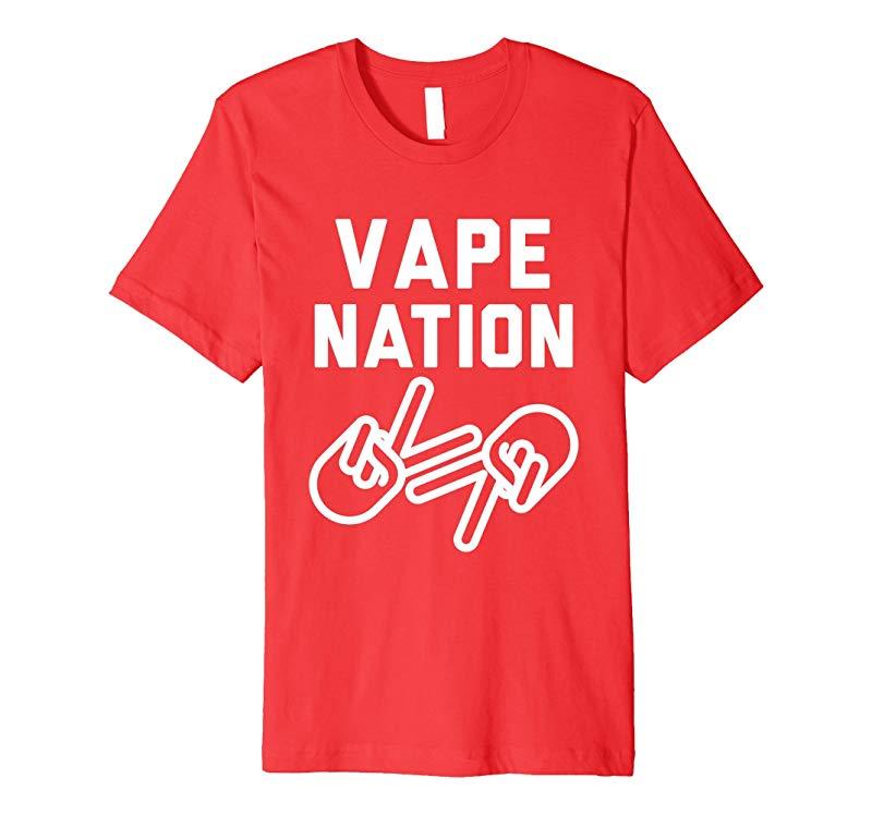 Vape Nation Tee - White Outlines-CD