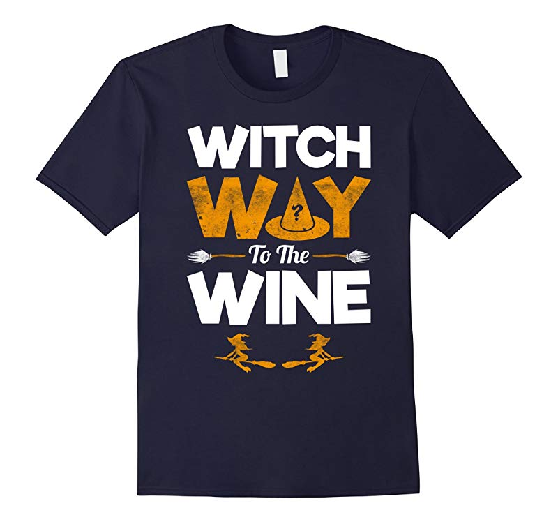 Witch Way To The Wine - Funny Halloween T-Shirt - Unisex-RT
