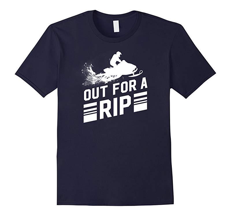 Snowmobile Shirt - Out For A Rip Mens Snowmobiling TShirt-BN