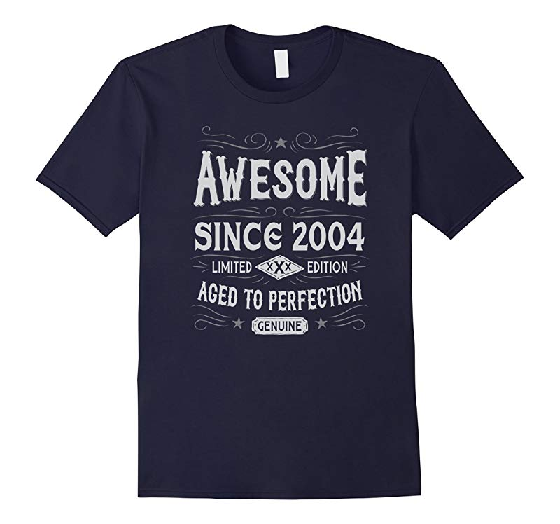 13th Birthday Gift T-Shirt Awesome Since 2004-RT