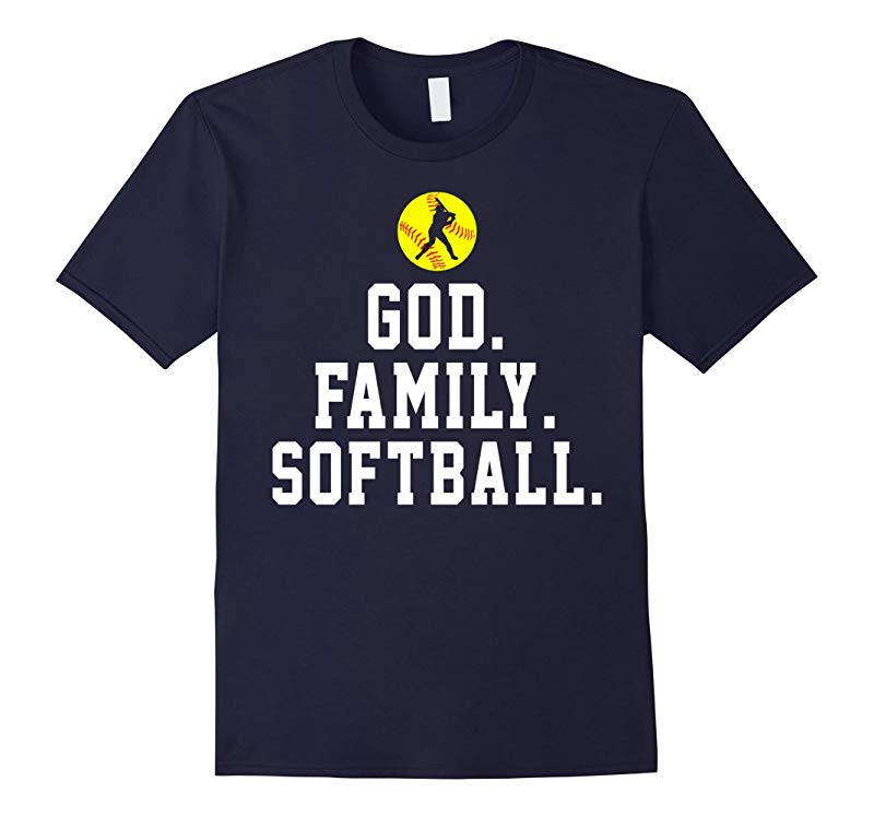 God Family Softball Funny Shirt Gift-RT