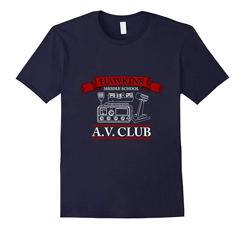 Hawkins Middle School AV Club T-Shirt-RT