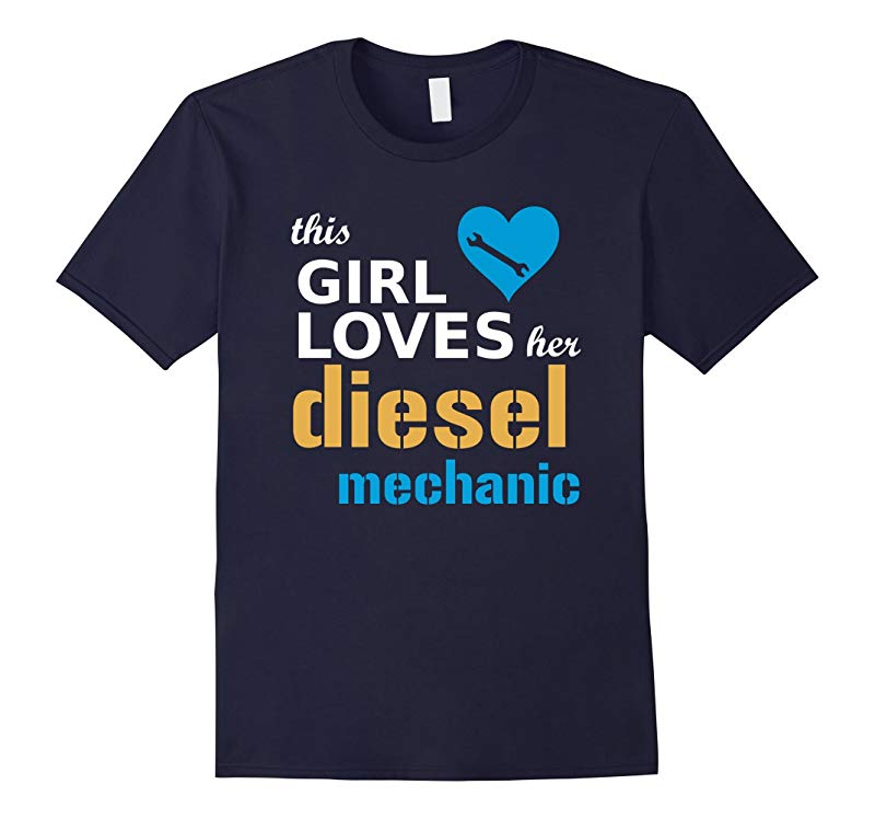 This Girl Loves Her Diesel Mechanic T Shirt  Gift Tee-RT