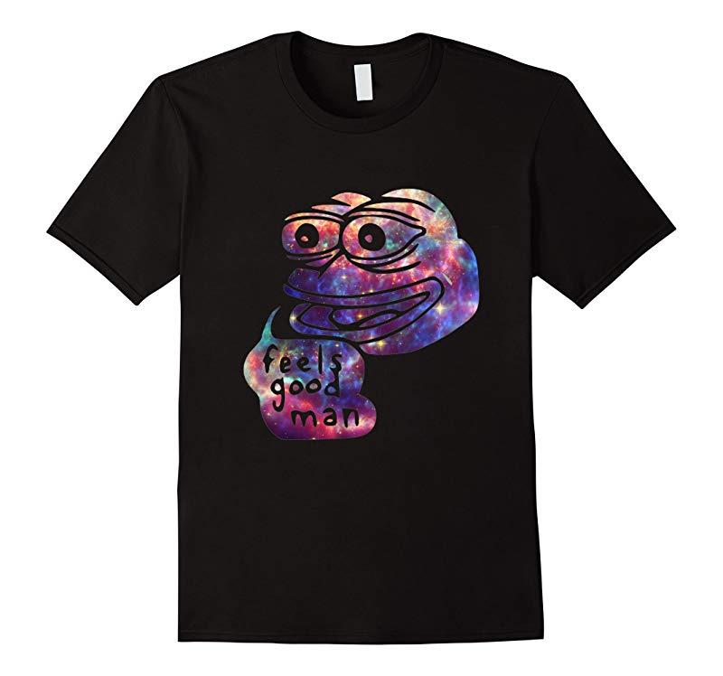 Rare Dank Meme Shirt Cosmic Galaxy Feels Good Pepe T Shirt-axz