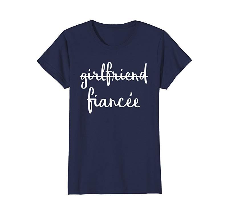 Womens Girlfriend Fiancee T Shirt, Fiance Engagement Party Tshirt-alottee gift