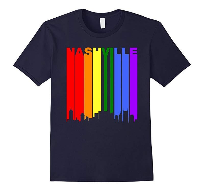 Nashville Tennessee Downtown Rainbow LGBT Gay Pride T-Shirt-RT