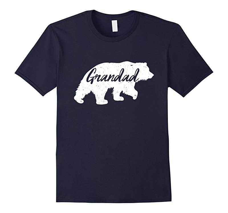 Mens Grandad Bear T-Shirt Gifts for Grandad Grandpa-RT