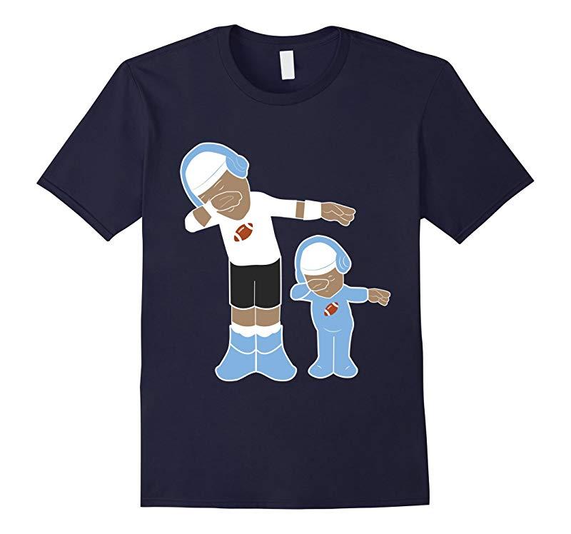 Papa and Son Dabbing American Football - T shirt-RT