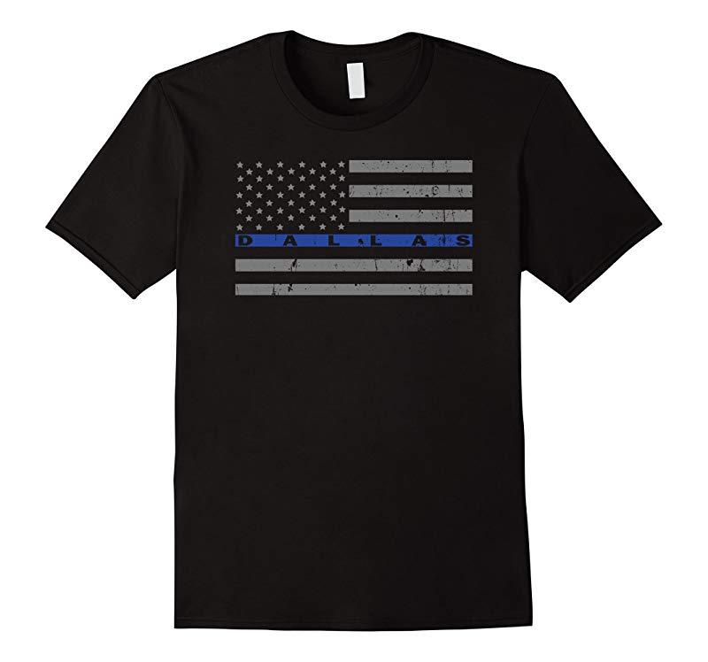 Dallas Police Thin Blue Line Shirt-RT