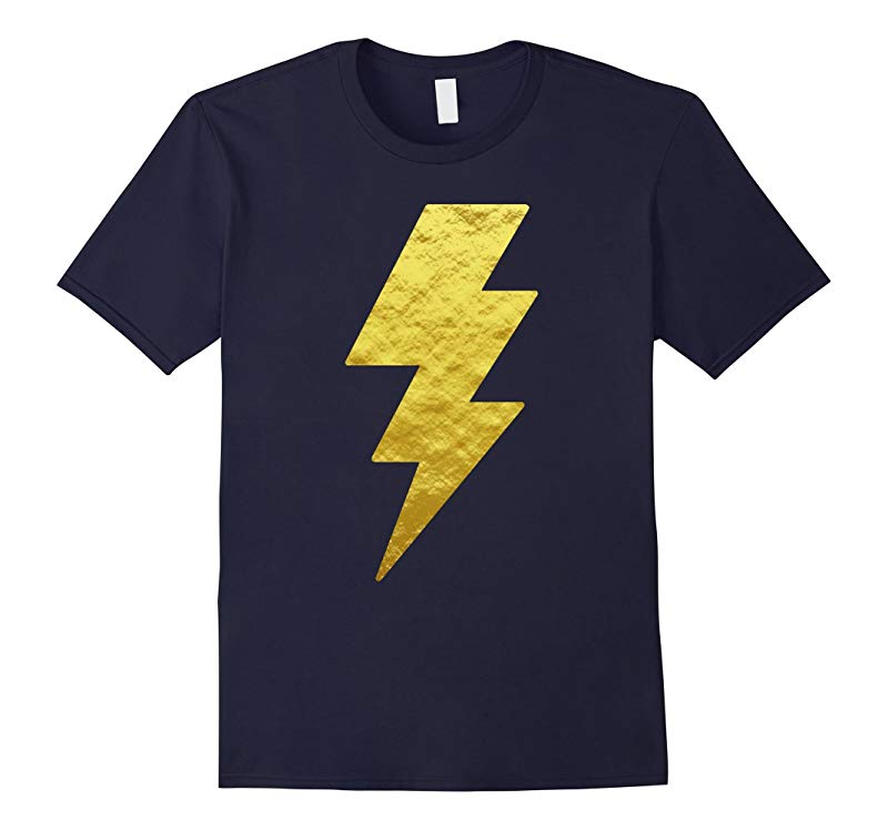 Lightning Bolt Tshirt Gold Unisex Graphic Printed Tees Tops-ANZ