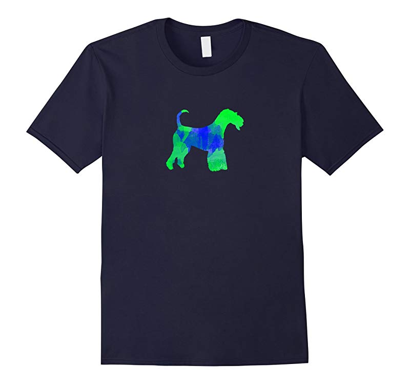 Airedale Terrier Watercolor Dog T-Shirt-RT