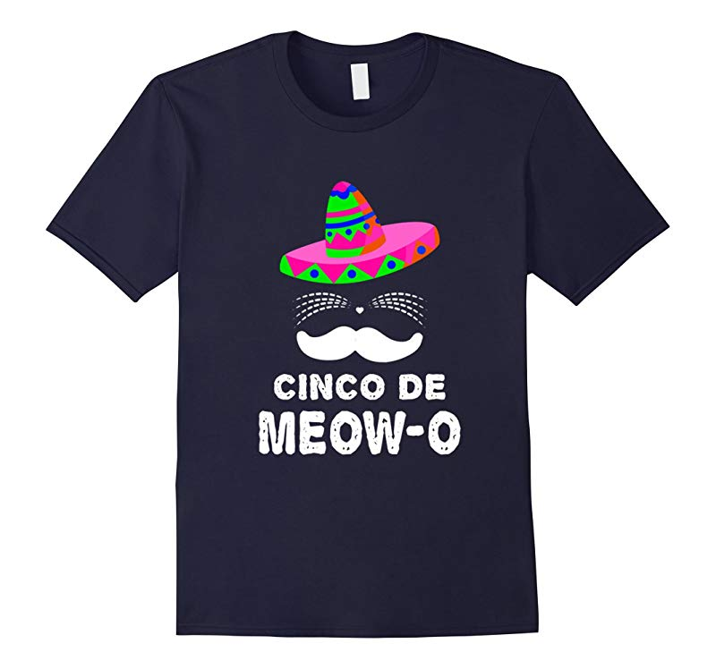 Cinco De Mayo Funny Cinco De Meow Cat Lover Pun Punny T-Shir-RT