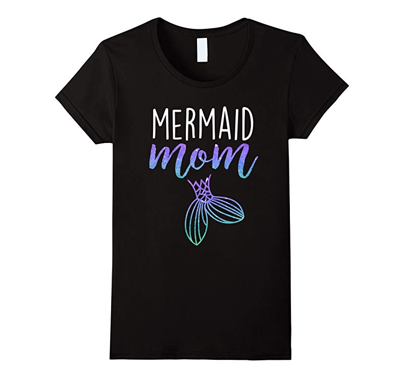 Womens Mermaid Mom Mermaid Birthday Party Shirt-RT