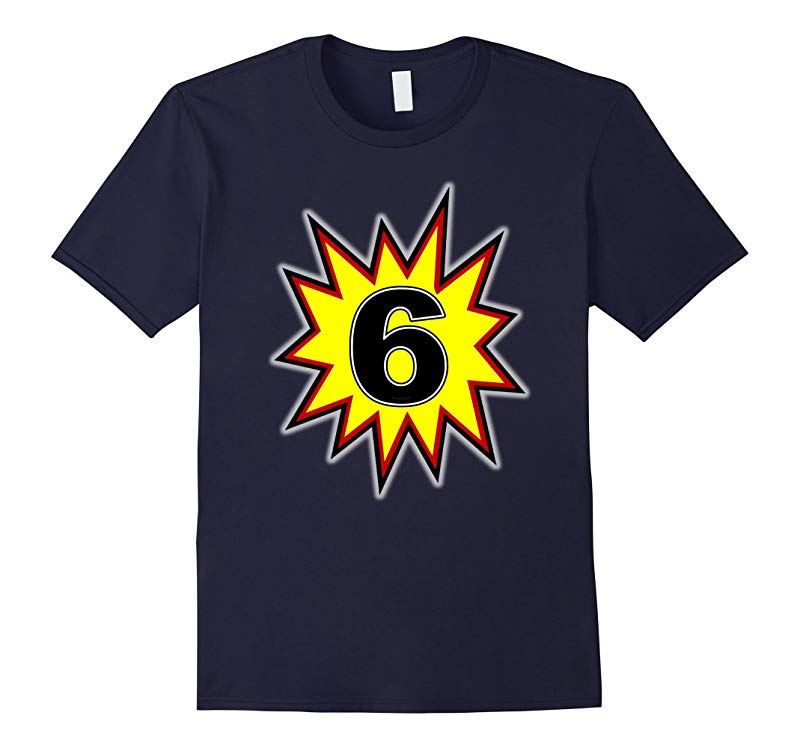 Birthday Boy 6 T Shirt (Six Year Old Birthday Superhero #3)-RT