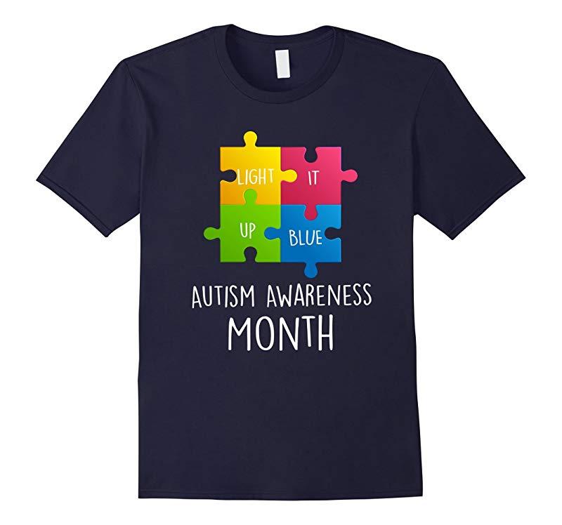 Autism Awareness Month Light it up Blue T-Shirt-RT