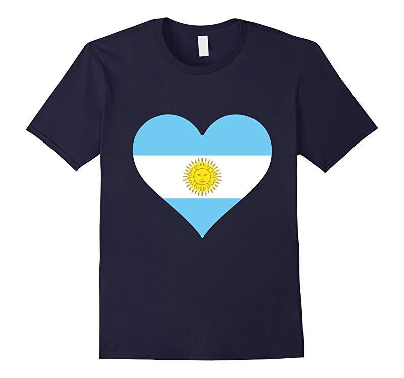 ARGENTINA FLAG T-SHIRT Argentine Heart T Shirt-RT