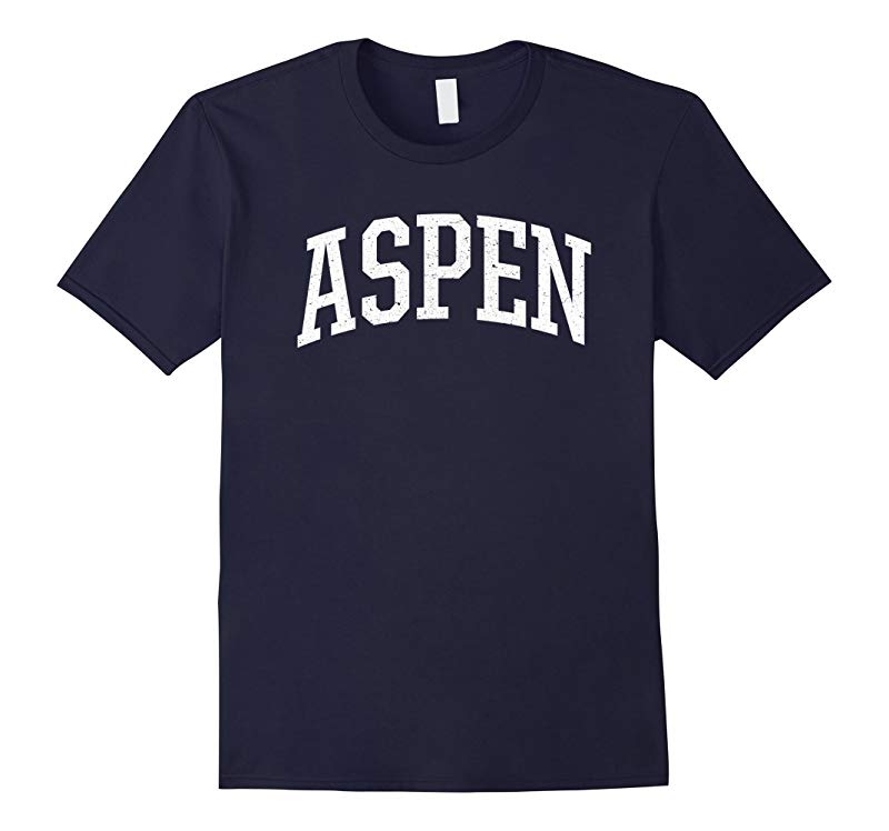 Distressed Aspen T-Shirt Retro Aspen Sports College-Style T-RT