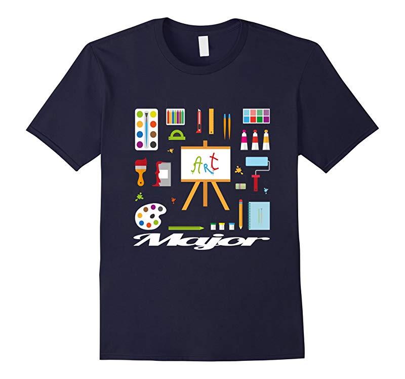 Art Major Palette Paints Watercolor Artist Acrylic T-Shirt-RT