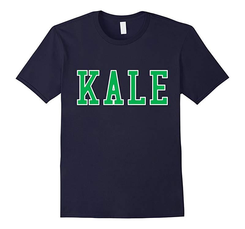 Funny Green White Kale College University Vegetarian T-shirt-RT