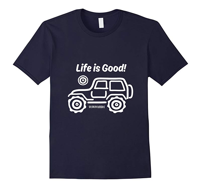 life is good Life is good Jeep t-shirt mens Jeep Hair tee-RT