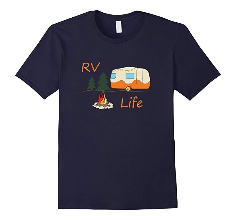 RV Camping T-Shirt For RV Life / RV Camp Fire Road Travel-RT
