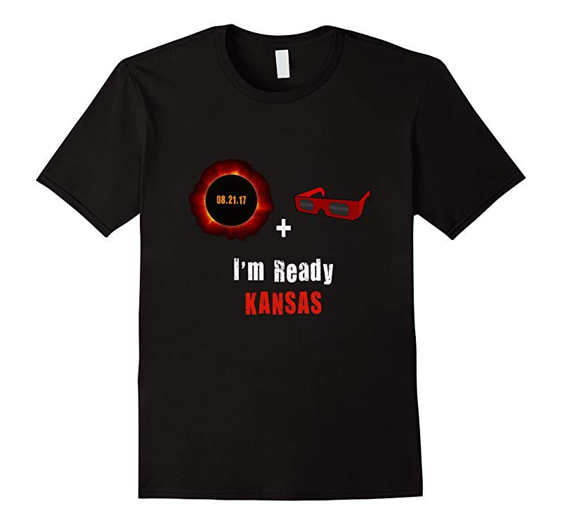 2017 Total Solar Eclipse Sun Glasses Kansas I'm Ready tee-BN