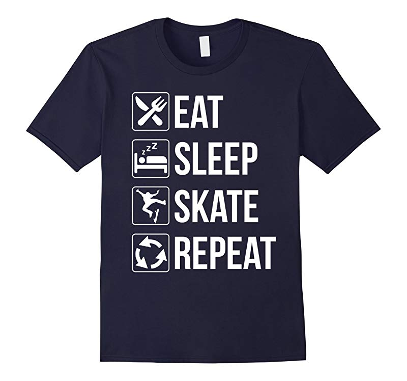 Funny Eat Sleep Skate Repeat TShirt for Skaters-RT