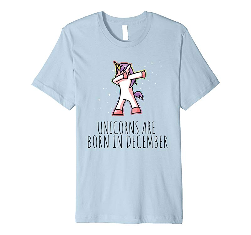 Unicorns are Born in December Cute T Shirt Dabbing Tee-BN