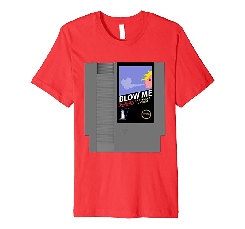 Blow Me 80's Retro Video Game Parody T-Shirt-TH