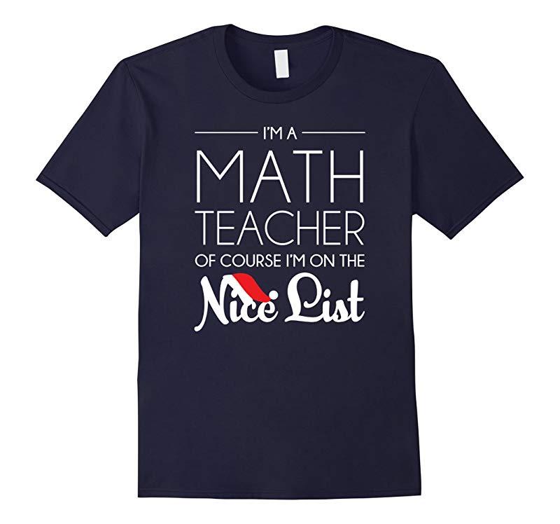 Math Teacher Christmas Shirt, Funny Holiday Gift-RT