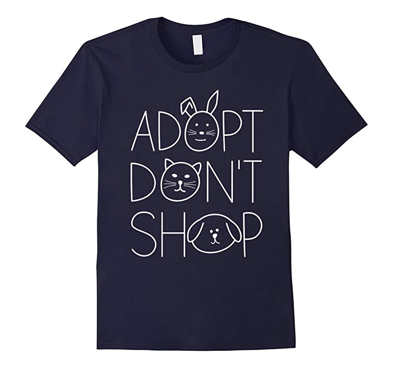 Adopt Don't Shop Animal Rescue T-Shirts For Animal Lovers-RT