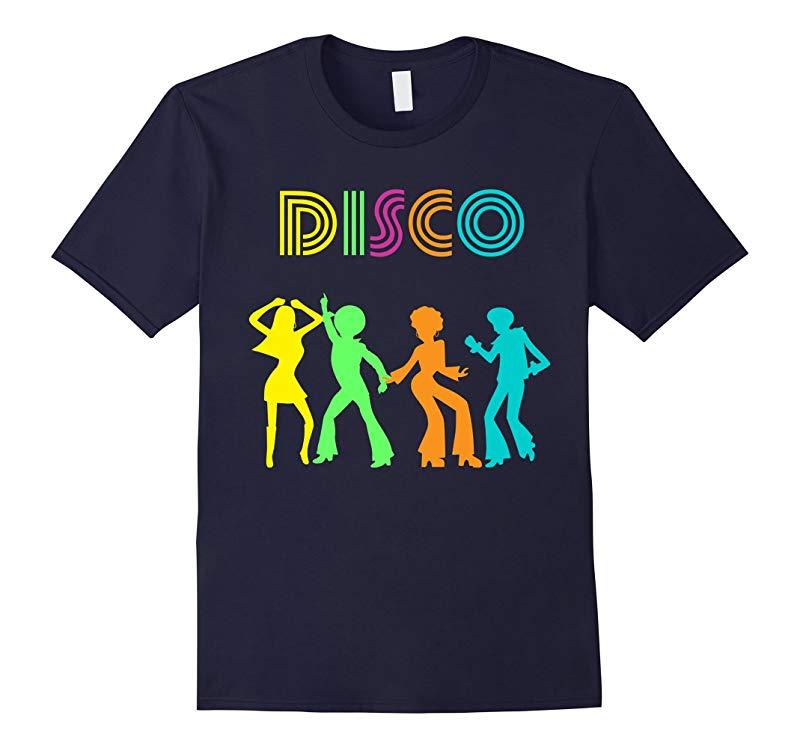 1970's Style Disco Dancers Dancing Retro Design T-Shirt-RT