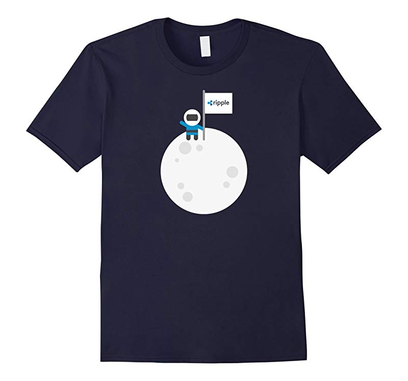 Ripple To The Moon! | Astronaut Graphic XRP Flag T-Shirt-RT