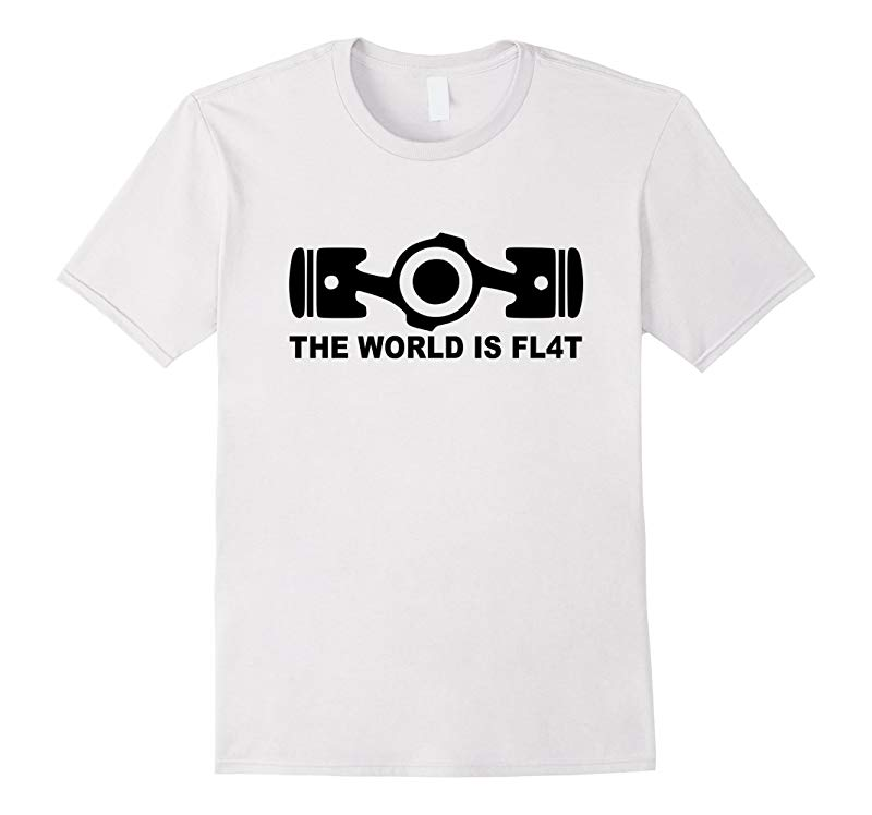 The World Is Flat, Auto Racing Motorsports T-Shirt-CL