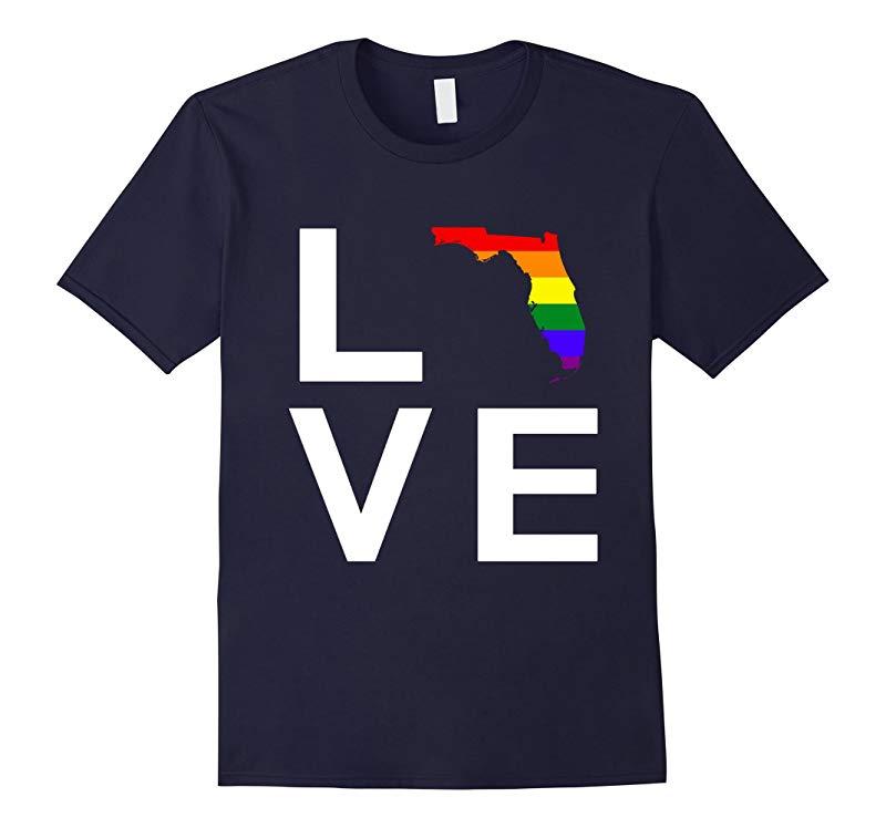 Love Orlando Florida LGBT Pray Gay Les Trans No Hate T-shirt-RT