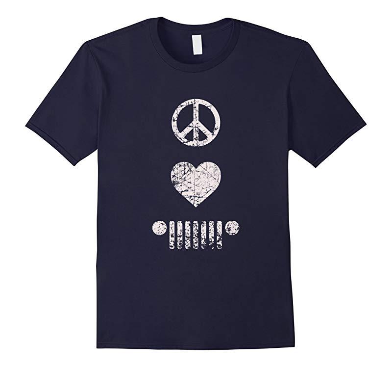 Peace Love Jeep T-shirt-RT