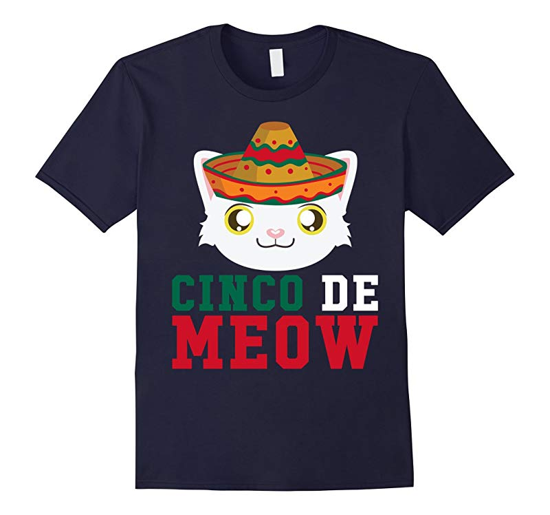 Cinco De Meow Sombrero Cat - Cinco De Mayo May Fifth T-Shirt-RT