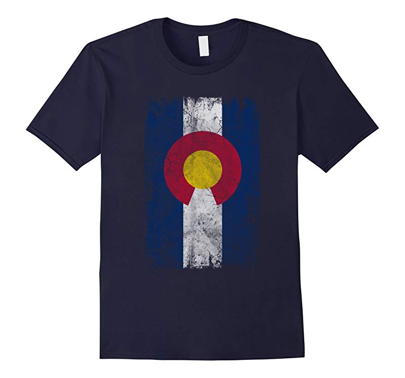 Vertical Flag of Colorful Colorado T Shirt-RT