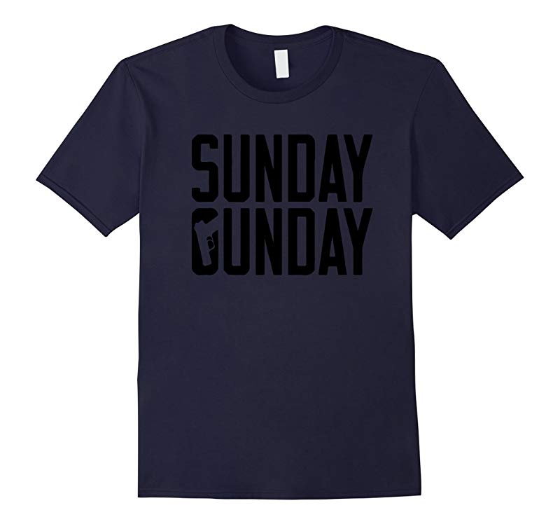 Sunday Gunday Gun Shooting Pistol Firearms T-Shirt-RT