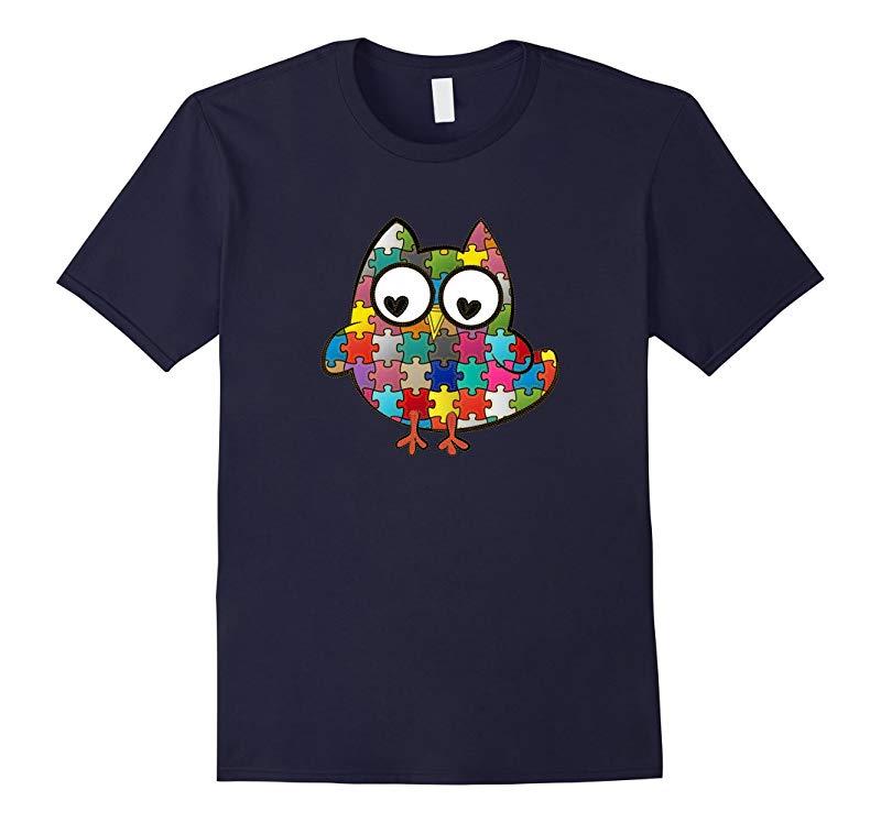 Autism Owl T Shirt for Autism Awareness Month-RT